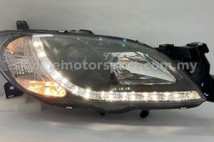 Mazda 3 03-08 Projector H/L DRL LED Black