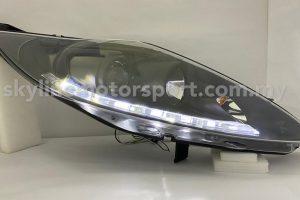 Ford Fiesta 09-15 Projector H/L DRL LED Black