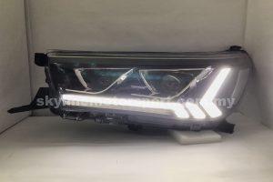 Toyota Hilux Revo Rocco 15-19 Projector H/L DRL LED Black (WSRF)
