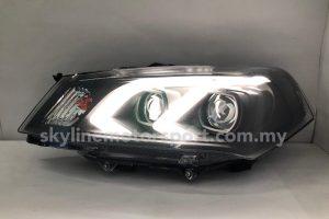 Proton Saga FLX 10-15 Dual Projector H/L DRL LED Black