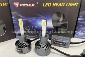 Triple S LED Head Light Bulb H1 6000K