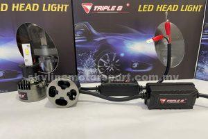 Triple S LED Head Light Bulb H3 6000K