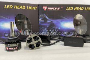 Triple S LED Head Light Bulb 9005 6000K