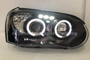 Subaru Impreza WRX GDB 04-05 Projector H/L DRL LED Ring Black